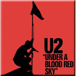 U2 Fridge Magnet: Under a Blood Red Sky