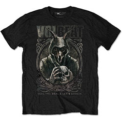 Volbeat Men's Tee: Goat with Skull