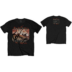 Pink Floyd Men's Tee: The Wall Meadow with Back Print