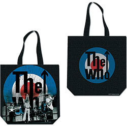 The Who Cotton Tote Bag: Target (with zip top)