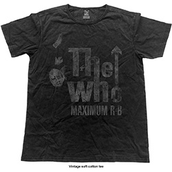 The Who Unisex Fashion Tee: Max R&B Vintage (Vintage Finish)