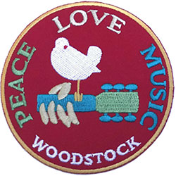 Woodstock Standard Patch: Peace, Love, Music