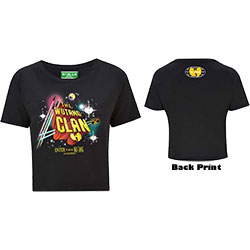 Wu-Tang Clan Ladies Cropped Tee: Gods of Rap (Ex Tour/Back Print)