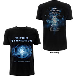 Within Temptation Unisex Tee: Silent Force Tracks (Back Print)