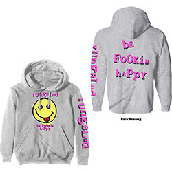 Yungblud Unisex Pullover Hoodie: Raver Smile (Back Print)