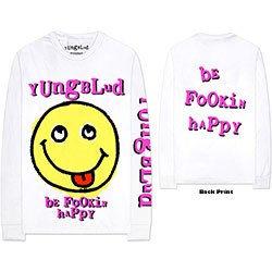 Yungblud Unisex Long Sleeved Tee: Raver Smile (Arm & Back Print)