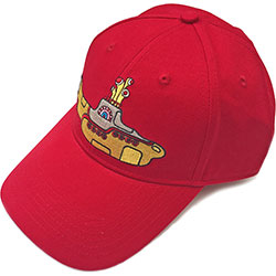 The Beatles Men's Baseball Cap: Yellow Submarine (Red)