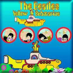 The Beatles Fridge Magnet: Yellow Submarine Portholes