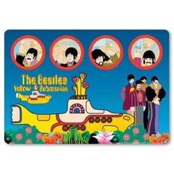 The Beatles Mouse Mat: Yellow Submarine & Portholes
