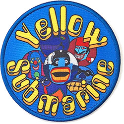The Beatles Standard Patch: Yellow Submarine Baddies Circle (Loose)