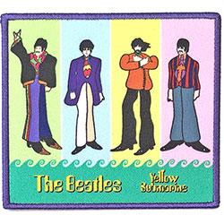 The Beatles Standard Patch: Yellow Submarine Band in Stripes (Loose)
