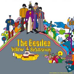 The Beatles Single Cork Coaster: Yellow Submarine