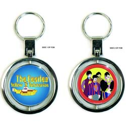 The Beatles Premium Keychain: Yellow Submarine Band & Sub (Spinner)