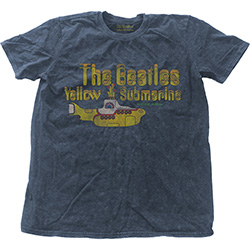 The Beatles Unisex Fashion Tee: Yellow Submarine Nothing Is Real (Snow Wash)