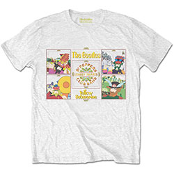 The Beatles Men's Tee: Yellow Submarine Sgt Pepper Band
