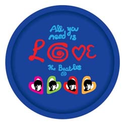 The Beatles Drinks Tray: Love
