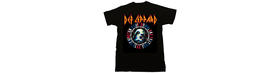 DEF LEPPARD UNISEX TEE: DOWNLOAD FEST 2019 (LIMITED)