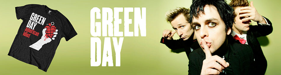 Green Day Official Licensed Wholesale Band Merch