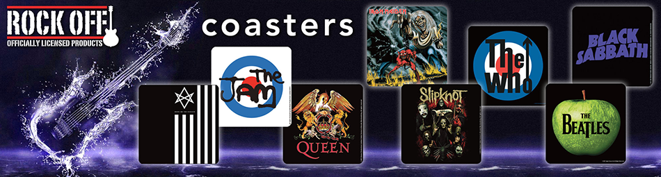 Wholesale suppliers of officially licensed band & entertainment accessories including drinks coasters & coaster sets.