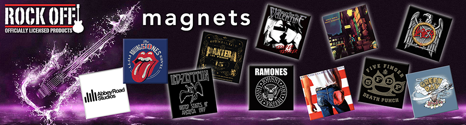 Wholesale suppliers of band merchandise including magnets