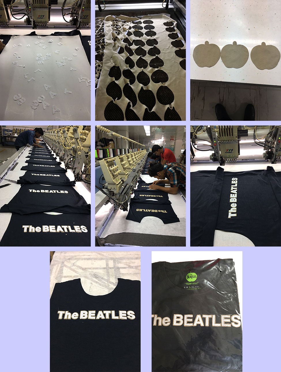 Showing how the applique tees are manufactured