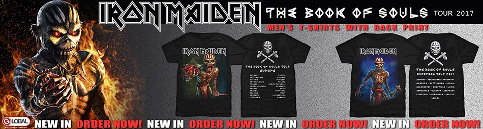 Iron Maiden Book of Souls European Tour Tees