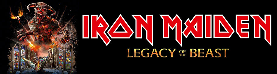 Official Licensed Iron Maiden Legacy of the Beast European Tour Merchandise