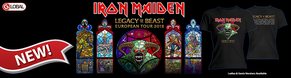 Iron Maiden Legacy of the Beast European Tour 2018 - 2019 Banner