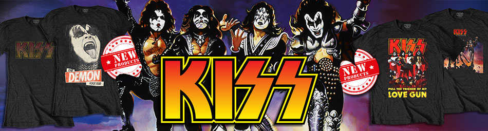 Kiss official licensed band merchandise - new arrivals