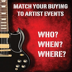 Match your buying to artists events